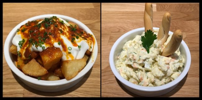 Patatas bravas y Ensaladilla rusa